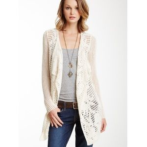 LUCKY BRAND | SAUSALITO OPEN KNIT WOOL CARDIGAN